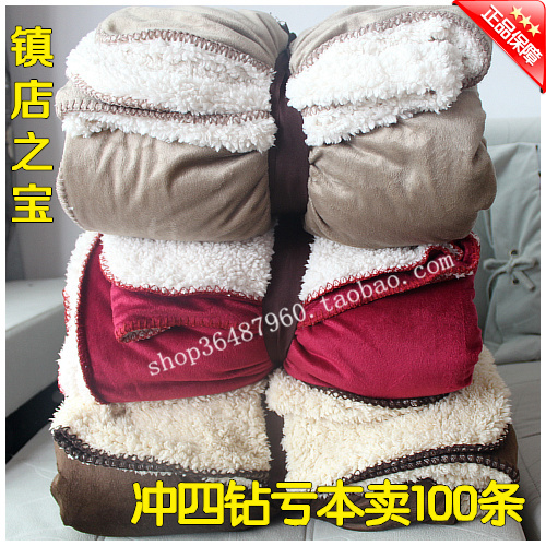 2014 Direct Selling Sale Freeshipping Winter Frozen Blanket Super Soft Thickening Berber Fleece Blanket Coral Home Christmas(China (Mainland))