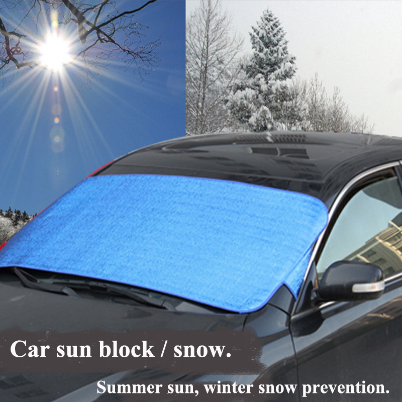 200X70cm Double Side Aluminum Foil Shading Anti Freeze Front WIndow Glass Sun Block Snow Cover Block UV Protection(China (Mainland))