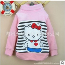 Free shipping 2014 Hot girls long-sleeved T-shirt bottoming shirt sweater jacket velvet shirt(China (Mainland))