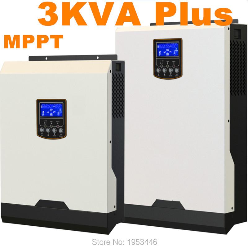 Cool ! Solar Inverter 3Kva 2400W Off Grid Inverter 24V to 220V 60A MPPT Inverters Pure Sine Wave Hybrid Inverter 60A AC Charger(China (Mainland))