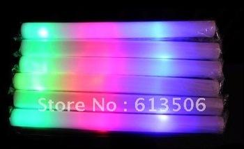 15pcs/lot  led light foam stick Colors changing glow foam stick for party festival concert