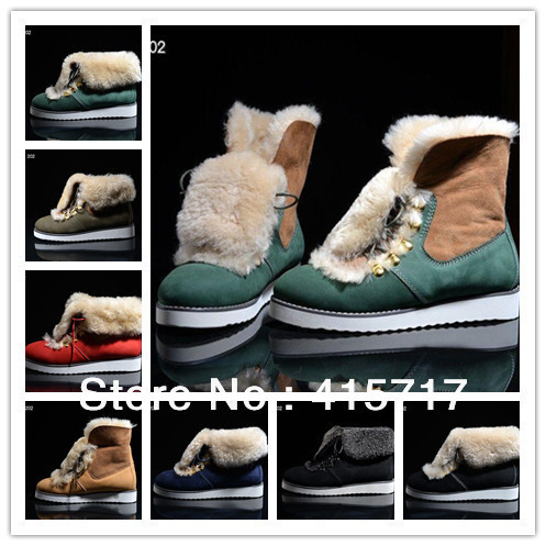 2014 New Women Ankle Boots High Quality Flat Heel Warm Snow Boots Brand Design Fur Boots for Women Winter Motorcycle Boot(China (Mainland))