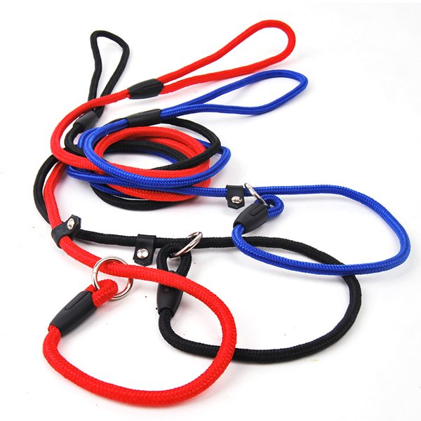 1PCS Wholesale Free Shipping Economical Pet Dog Harness ADJUSTABLE ROPE Chain For Large Dog Black/Blue/Red(China (Mainland))