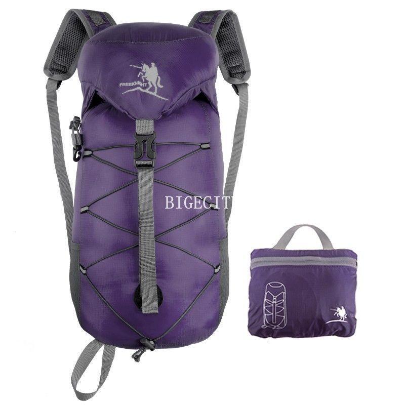 Водонепроницаемый на открытом воздухе пеший туризм кемпинг рюкзак путешествие рюкзак складной рюкзак мешок a1 bx103