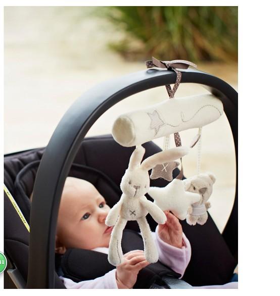 Baby music car hanging bed around plush toy safety seat pendant plush puzzle hand puppet(China (Mainland))