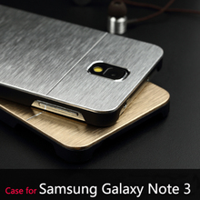 Deluxe Logo Brush Metal Cases For Samsung Galaxy Note 3 III N9000 Mobile Phone Accessories Cover Bags