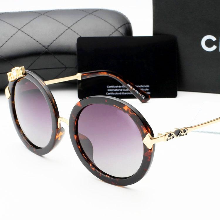 Goggles Classic women CC Glasses Sunglasses Vintage Fashion Accessories Round Polarized light eyeglass sunglasses Oculos de sol(China (Mainland))