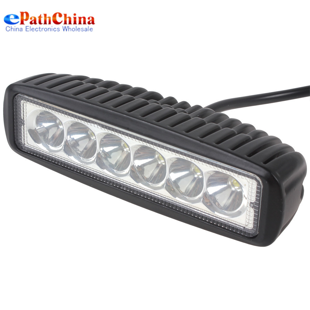 NEW 1550LM 18W 6 x 3W Cree LED Light Bar Work Light Car Headlight Flood Light / Spot beam Light for Boating / Hunting / Fishing(China (Mainland))