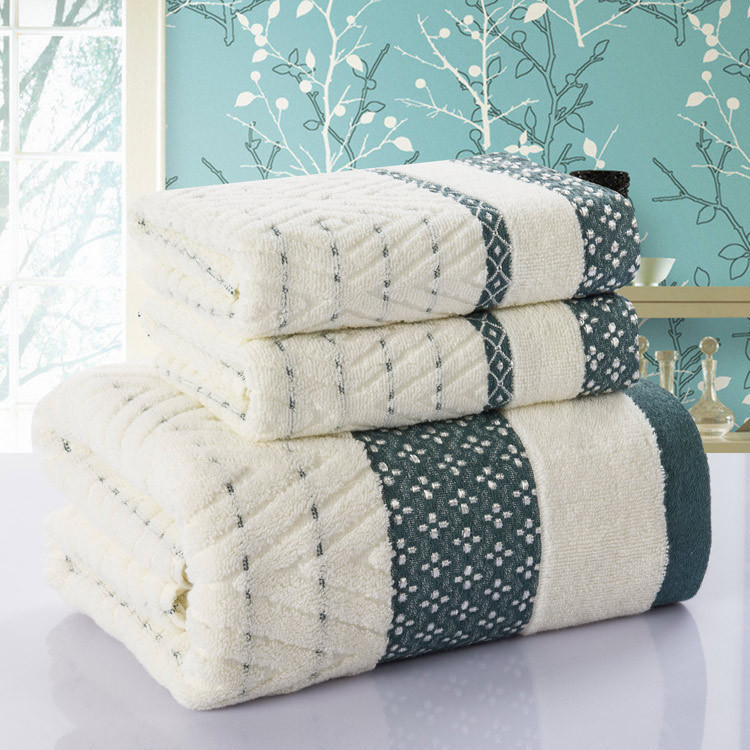 Diamond font b Plaid b font 3pcs towel 100 Cotton bath beach face towel sets for