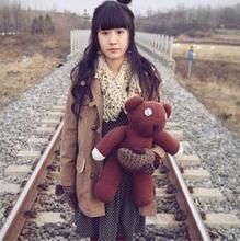 Free shipping 35cm Mr Bean teddy bear the Tactic brown teddy bear plush toy stuffed soft doll kids birthday&christmas gift