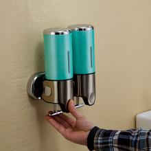 2016 New Wall Mounted Double Bottle Liquid Soap Dispenser Convenient Dispenser Durable Home Hotel Bathroom Supplies 1113(China (Mainland))