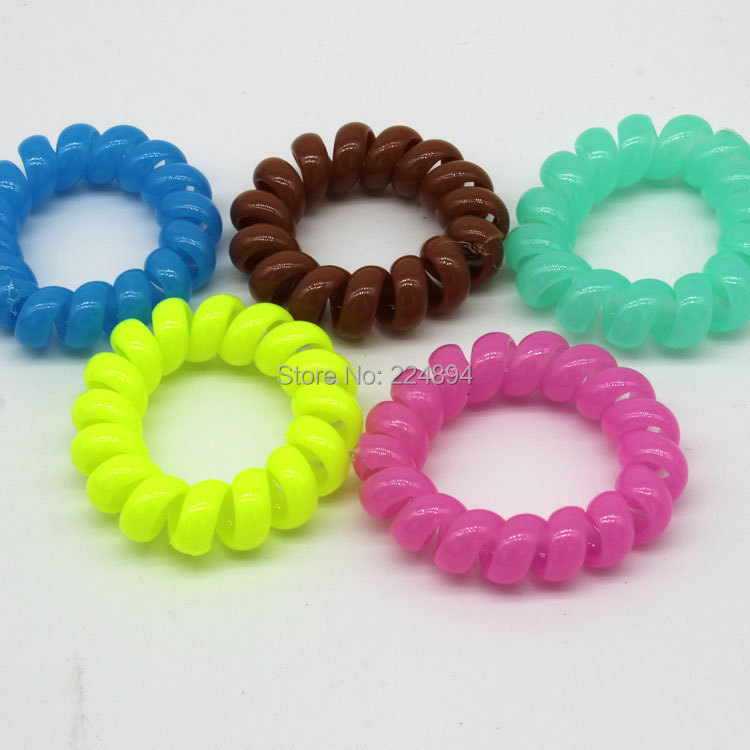 telephone line hair cord plastic hair band hair tie for girl cheap price(China (Mainland))