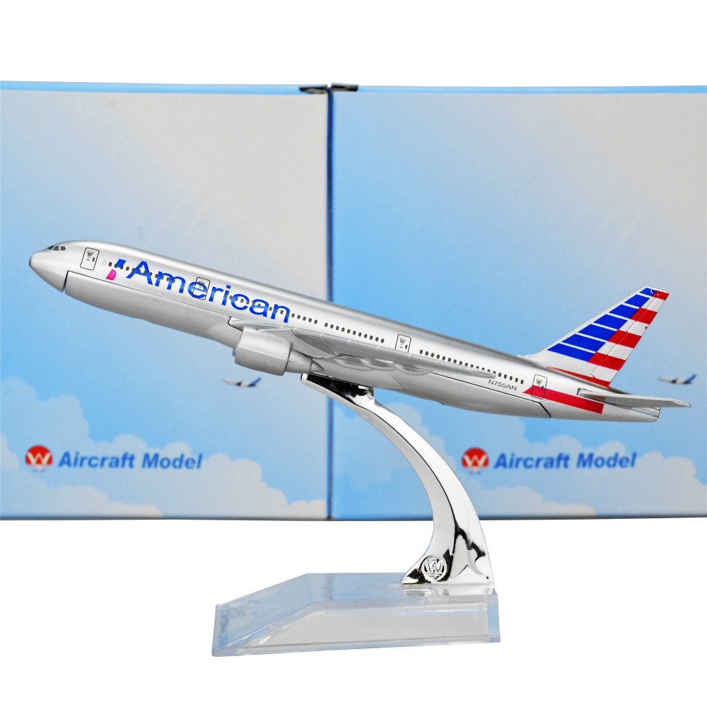 American Airlines Boeing 777 16cm Airplane Child Birthday Gift Plane Models Toys Free Shippping Christmas gift(China (Mainland))