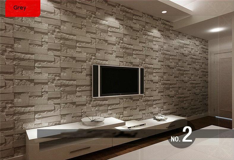 Acheter briques empil es pierre 3d papier - Mur en pierre salon ...