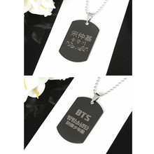 [PCMOS] 2016 KPOP BTS Descendants of the Sun Song Joong Ki Titanium Steel Pendant Korea Fashion Style Collection 16033004