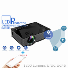 UNIC UC46 Mini Portable HD 1080P Video Home Cinema Projector Support Miracast DLNA Airplay Smartphone Wireless Uni-Link Wifi New(China (Mainland))