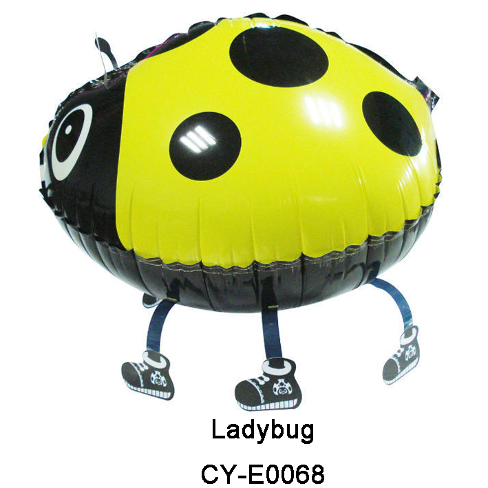 Free Shipping  50pcs/lot  colorful walking lady bug   Birthday Party supplies Aluminum Foil Balloon Globos kids toys<br><br>Aliexpress