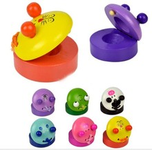 1 Pcs Cute Music Wooden Castanets Instruments For Kids Gift Cartoon Shaped Castanets Kids Toys(China (Mainland))