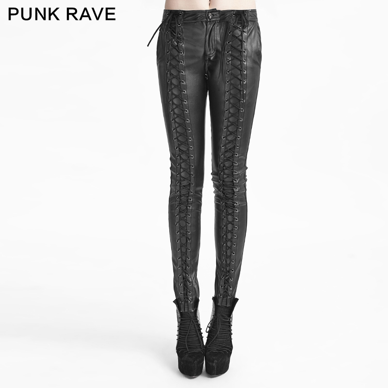 Innovative Pants Women (leggings) PUNK RAVE - Mantrap - K-205_B - U2605 Punkshop.eu