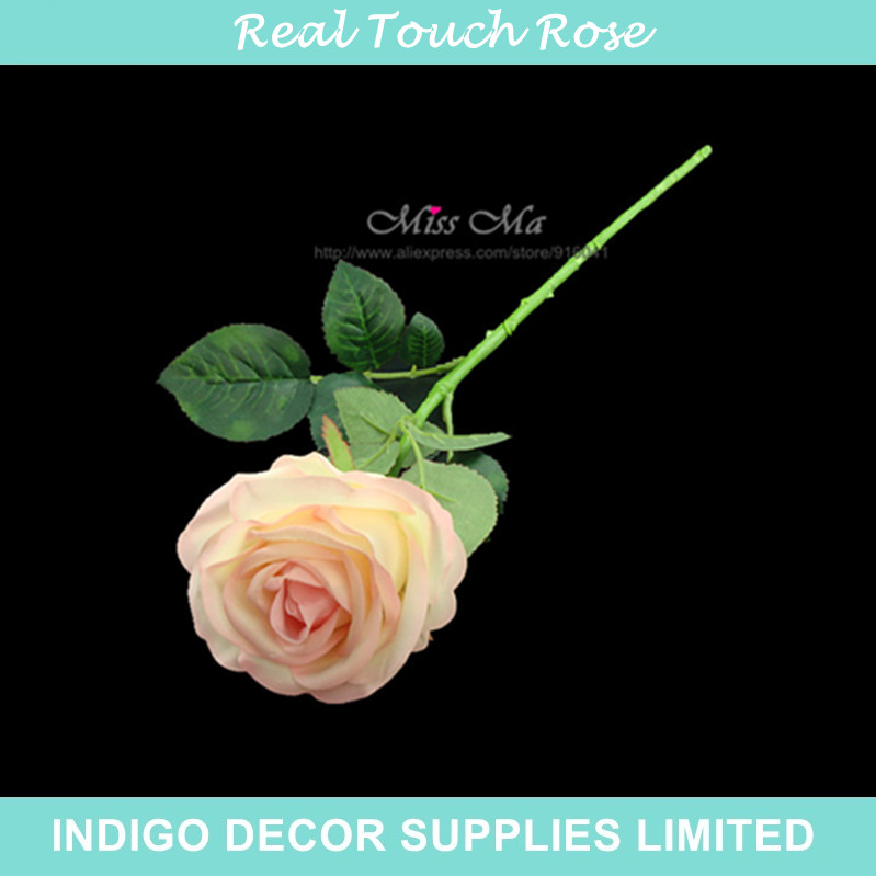 10pcs/Lot New Silk +Latex Coating Pink Rose Real Touch Rose Table Artificial Flower Wedding Flower Party Event Free Shipping(China (Mainland))
