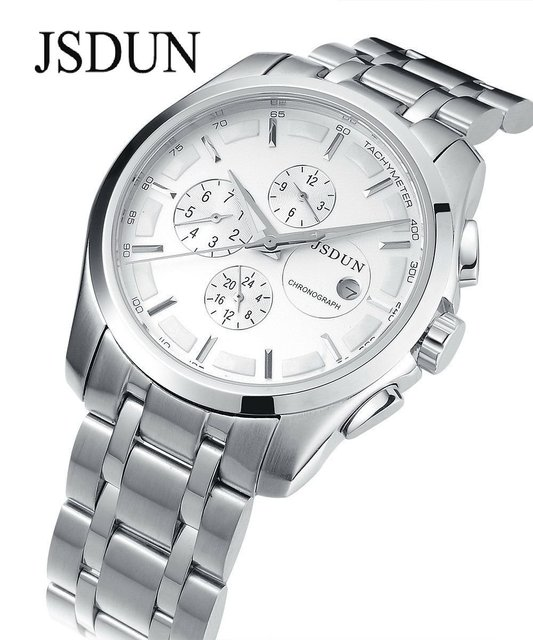 JSDUN Automatic mechanical watch men's Wristwatches 3 ATM Water Resistant sapphire glass Multi-function watches 8689