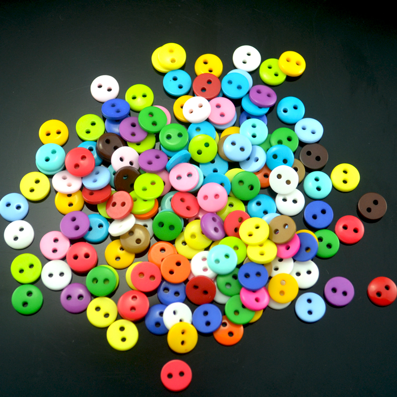 Wholesale 200pcs Multi 9mm Round Resin Mini Tiny Buttons Craft Sewing Accessories Embellishments BUTTON Scrapbooking DIY Tools(China (Mainland))