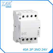 Buy Modular three pole household small AC contactor Household AC Power Contactor Modular 40A 3P 3NO 24V for $18.86 in AliExpress store