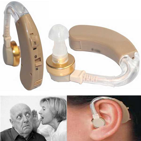 F-138 portable Mini amplifier Ear hearing aid BEHIND the EAR Sound Voice Amplifier Deaf Hearing Aid Cyber Sonic Hearing Aid(China (Mainland))