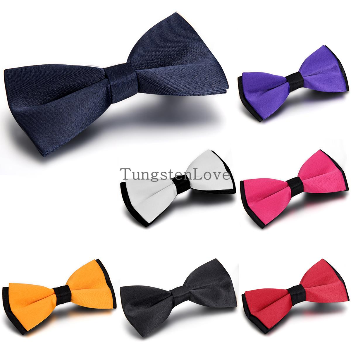 2015 Hot Prom Slim Bow Tie Mens Butterfly Cravate Bowtie Male Solid Color Marriage Bow Ties For Men 7 colors Selection(China (Mainland))