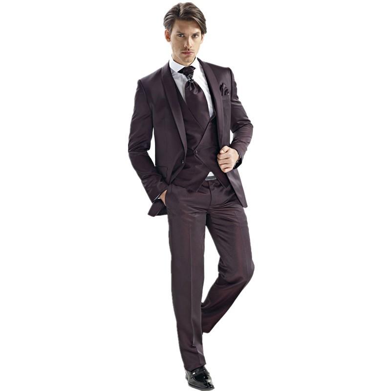 131 Black Groom Tuxedos Groomsmen 2015 Morning style Man Men Wedding Suits PromFormalBridegroom Suit (Jacket+Pants+Vest+Tie)AA703