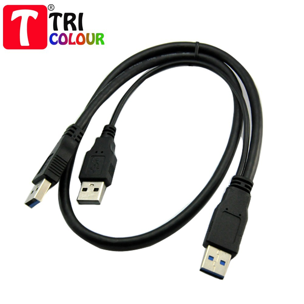 100pcs DHL Shipping USB 3.0 Y Cable Micro B Y Data Power Cable Two A Male To USB 10P MINI 3.0 AM+2.0 AM - 10P MINI #LQV115(China (Mainland))