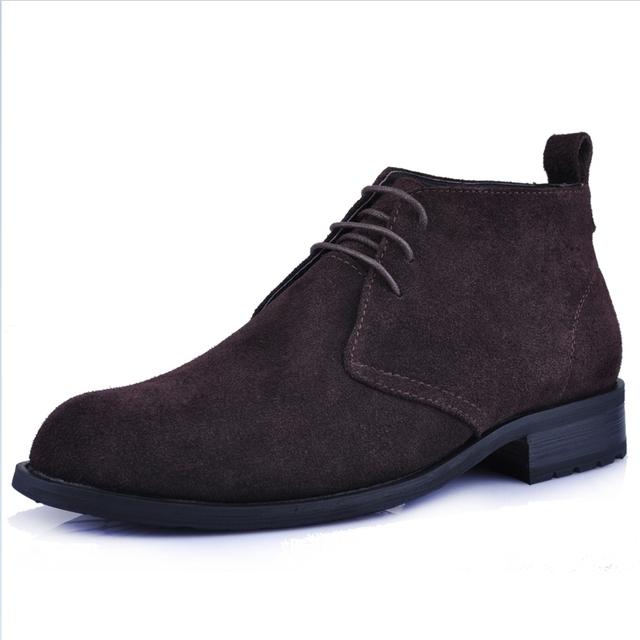 2016 Новое Прибытие Мужчины Сапоги мужчины бизнес обувь повседневная из натуральной ...