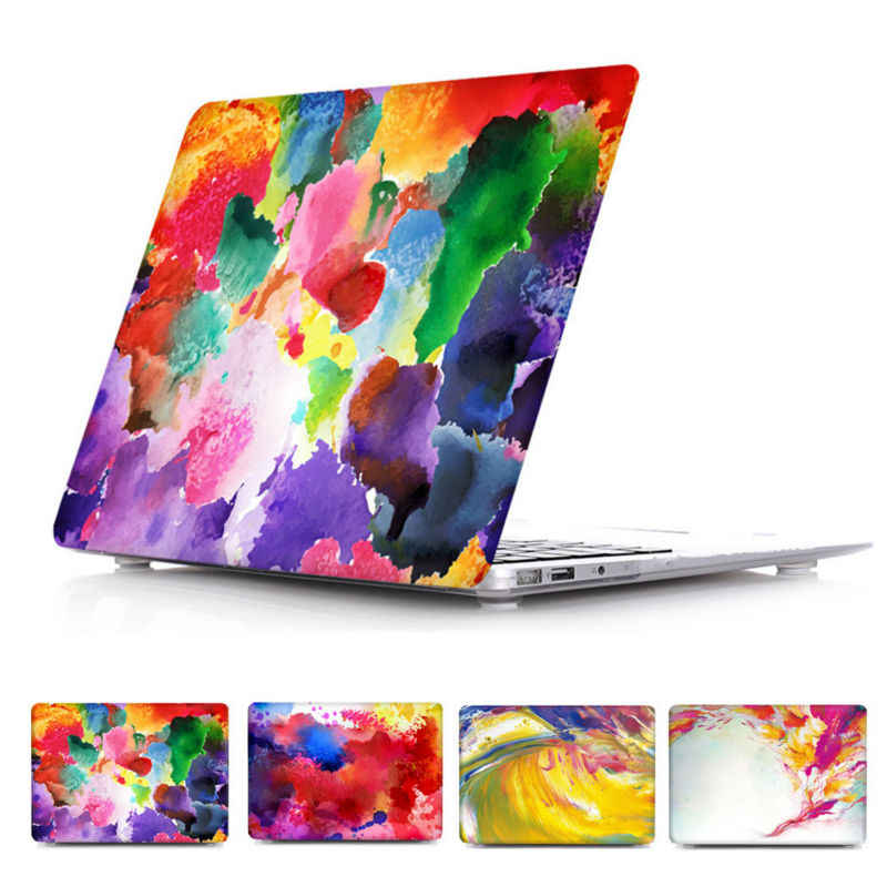 Colored drawing Print Pattern Hard Cover CaseFor Mac book Air 13 Case,Art Case For Macbook Retina 13 15.(China (Mainland))