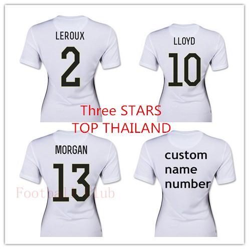 Best Thai Quality 2015 2016 USA Womens Three STARS home Away World Cup Soccer Jersey Lady Girl Football Shirt(China (Mainland))