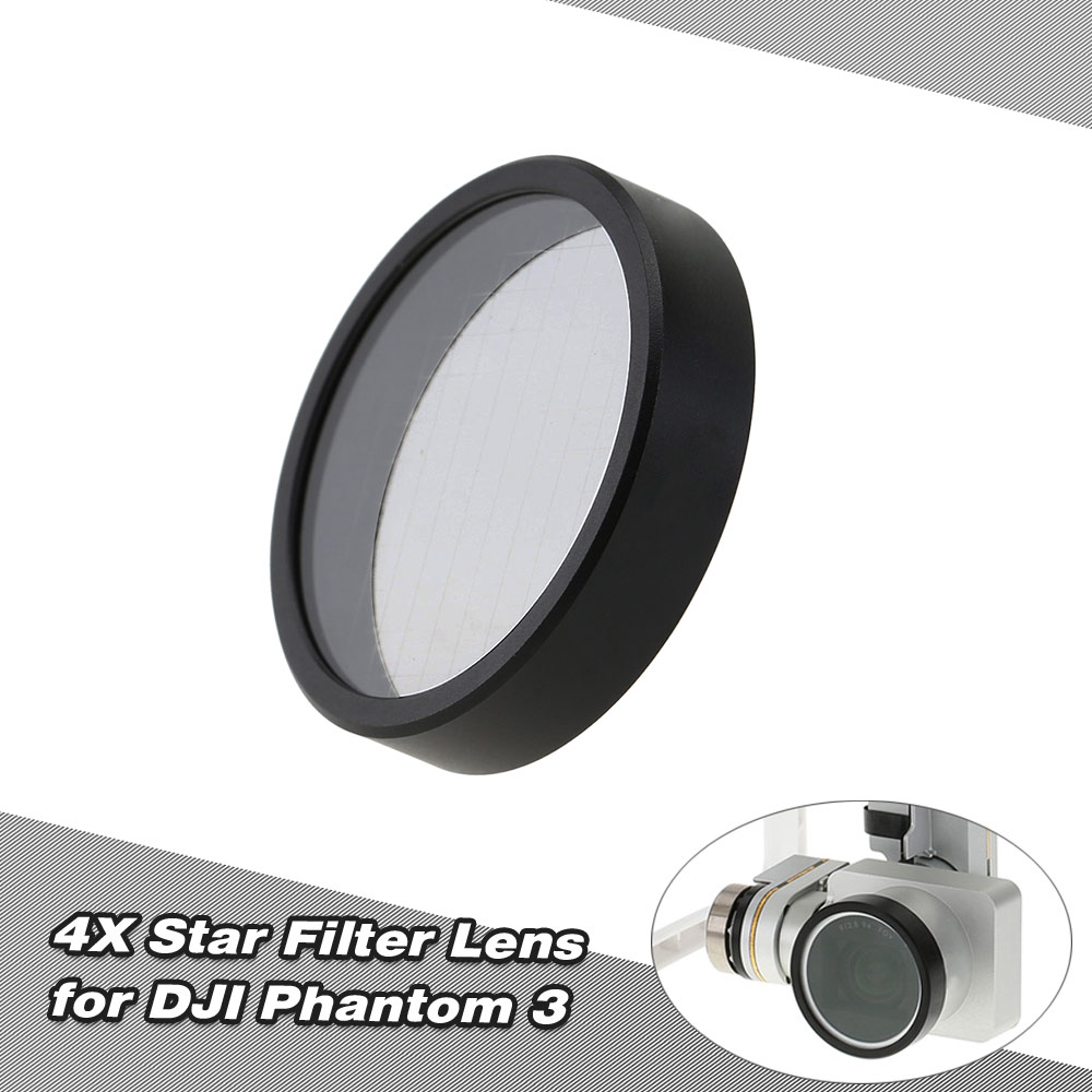 4X Star Functional Point Cross Line Camera Filter Lens for DJI Phantom 3 Professional Advanced Standard RC FPV Quadcopter(China (Mainland))