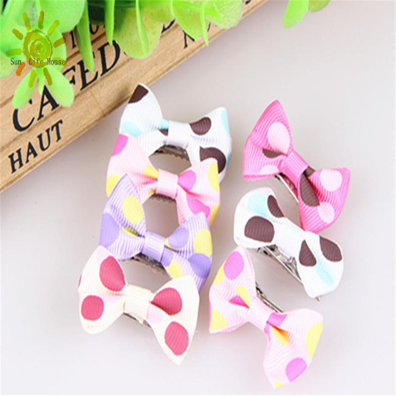 Pet hairpin head flower pet accessories Polka Dot Dress multicolor expensive Bin Taidi essential handmade pet accessories dog(China (Mainland))