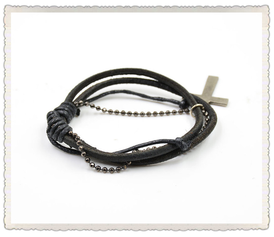 Wholesale Bracelets Beautiful Leather Bracelet Graceful Wrap Hand Strap 2015 cheap Price Adjustable(China (Mainland))