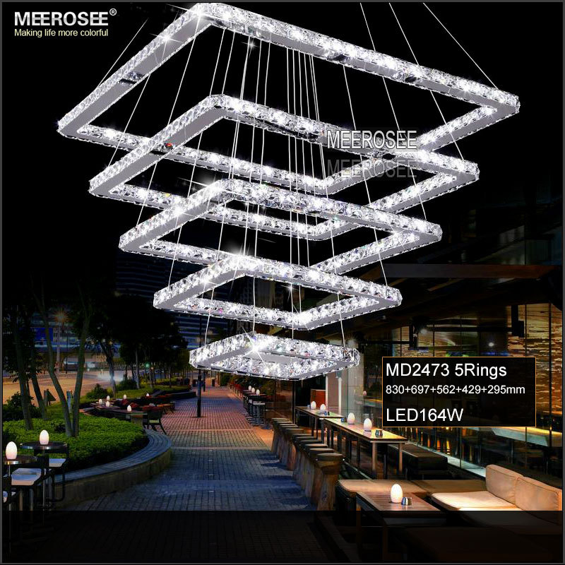 Aliexpress Buy Square Crystal LED Pendant Light