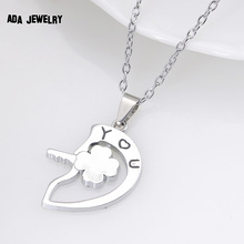 Wholesale 2016 New Couple Lovers Pendant Necklaces For Women s and Men s Fashion Metal Key