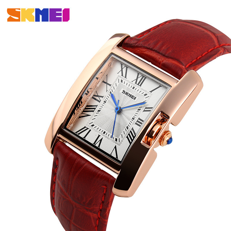 New 2016 Rose Gold Watch Women Leather Band Square Dial Quartz Analog Wrist Watch Fashion Luxury Women Watches relogio feminino(China (Mainland))