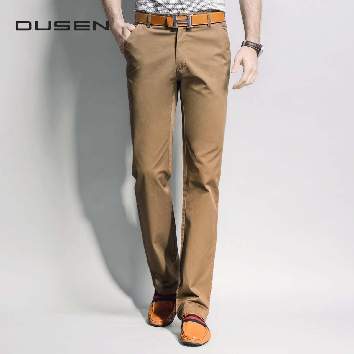 Men's clothing commercial straight casual pants male trousers slim all-match 100% cotton 4217 - Kyushu Trade Co. store