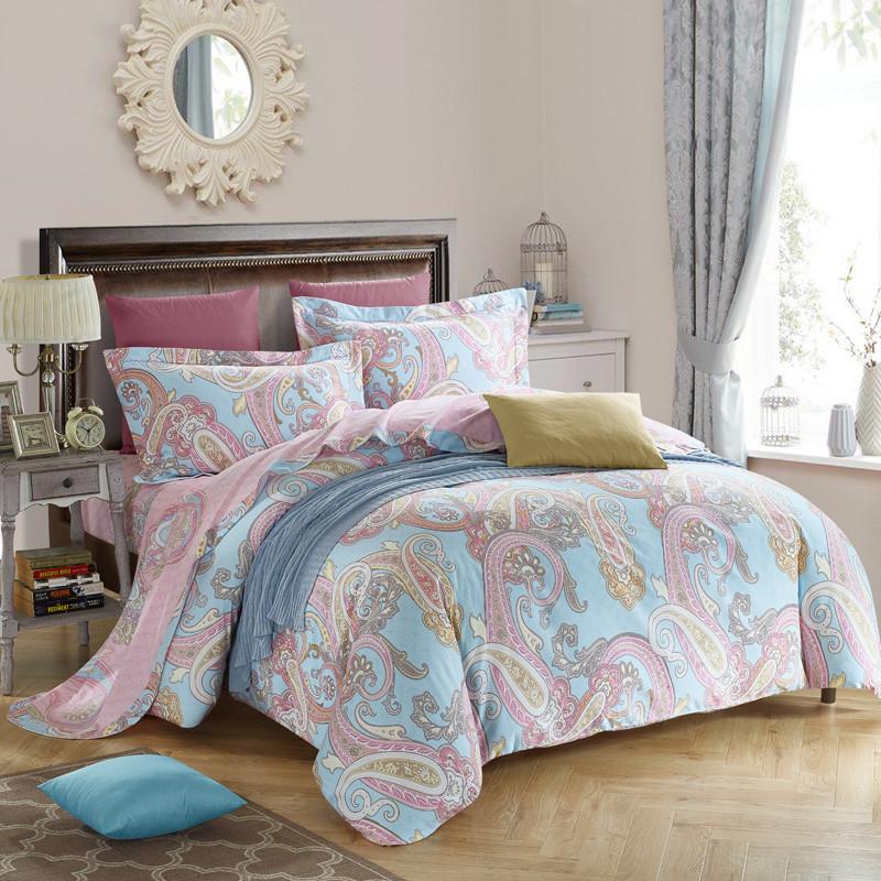 Svetanya Tree Deer print bedding set thick sanding cotton Bed Linens Queen/King size winter Duvet cover set(China (Mainland))