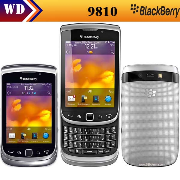9810 original Blackberry 9810 unlocked moblie phone GPS WIFI 5MP JAVA QWERTY Keyboard One Year Warranty(China (Mainland))