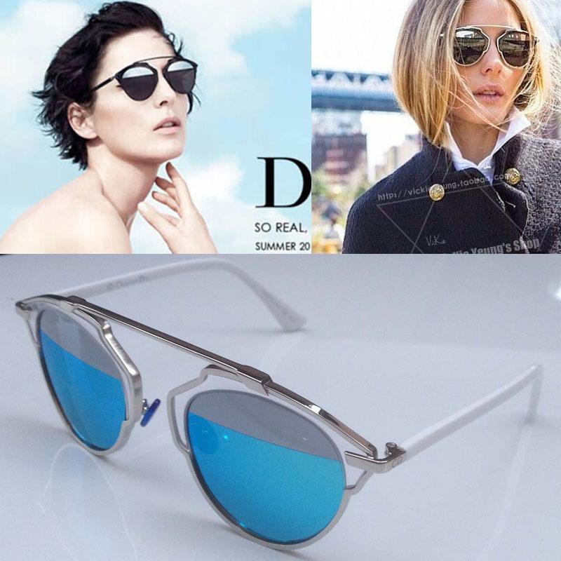 2015 New Popular Round Vintage Cat Eye Brand Women Ladies Girl So Real Mirror Coating 400UV Sunglasses, Fashion Star Sunglasses(China (Mainland))