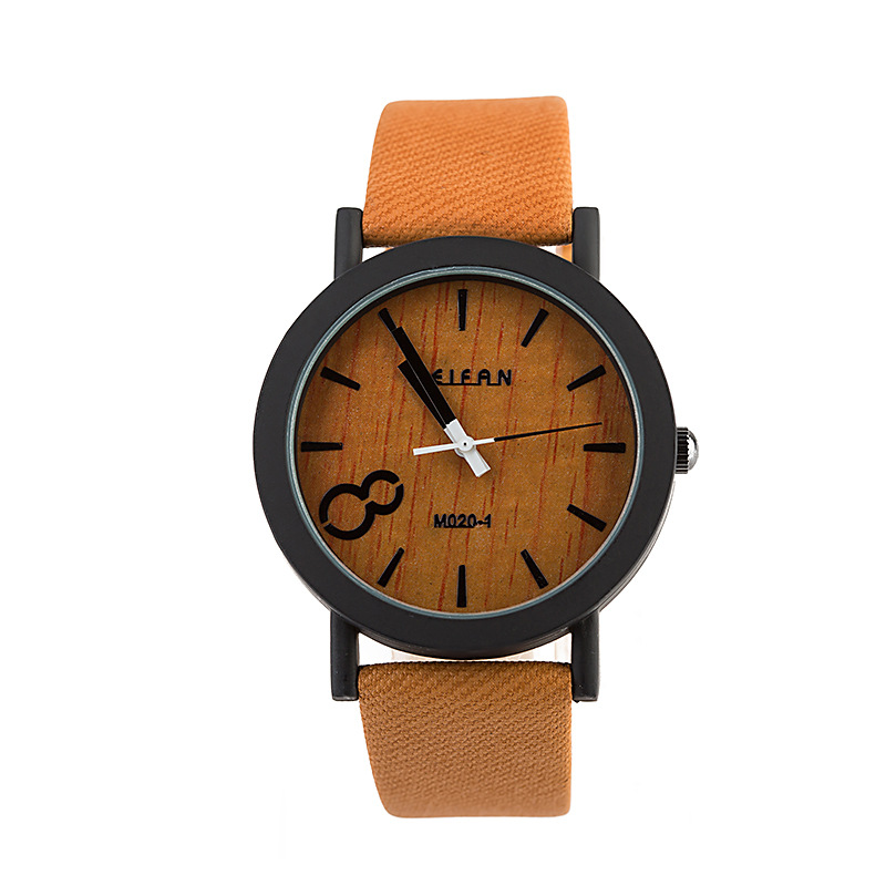 2015 new Simulated wood Quartz watches casual Man Watches wooden clock wooden color skin strap wristwatch