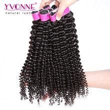 Yvonne Brazilian Kinky Curly Virgin Hair,3Pcs/lot Brazilian Hair Weave Bundles,Top Quality Aliexpress 100% Remy Human Hair(China (Mainland))