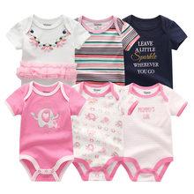 2019 novedad 6 unids/lote /lote ropa de bebé niña ropa de bebé niño unicornio ropa de bebé conjuntos de mamelucos de algodón recién nacido 0-12M(China)