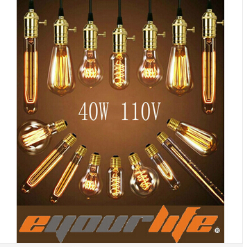 Гаджет  brand Eyourlife Edison Bulbs 220v 40w E27 Incandiscent Bulbs For Decoration Of Living Room Bedroom ST64/A19/G80/G95/G125/T30/T45 None Свет и освещение