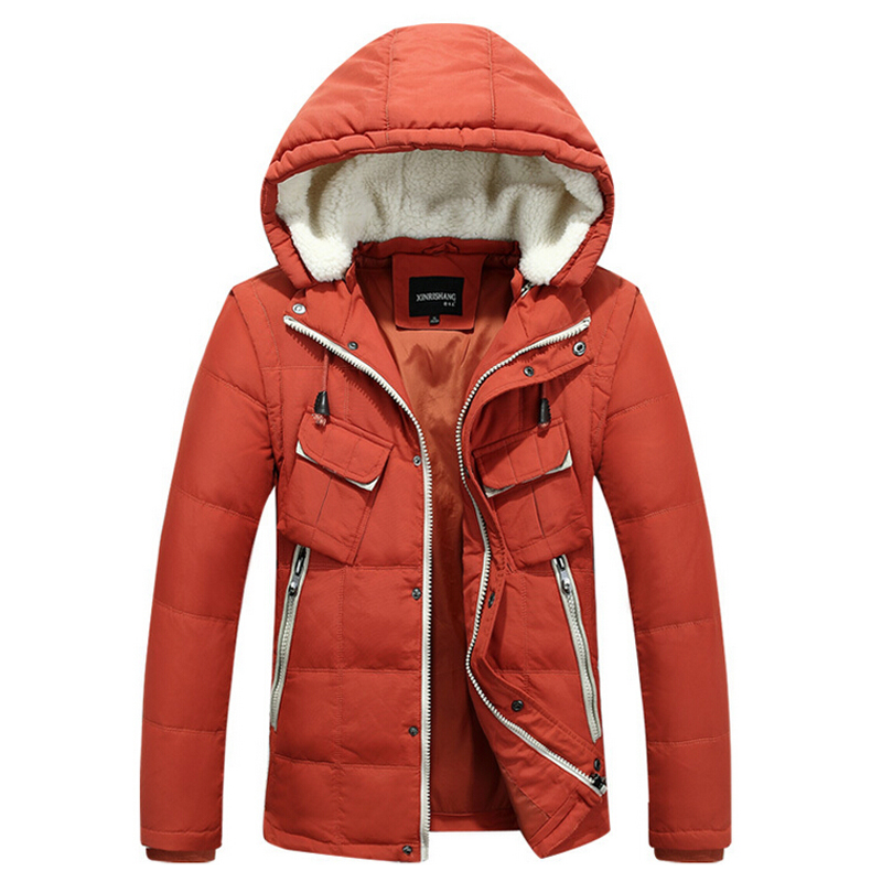 Hood White Duck Men's Down Jacket New Arrival Average 1.3KG/pcs Thicken Outwear Leisure Winter Fashion Down Coat Trench Parkas(China (Mainland))
