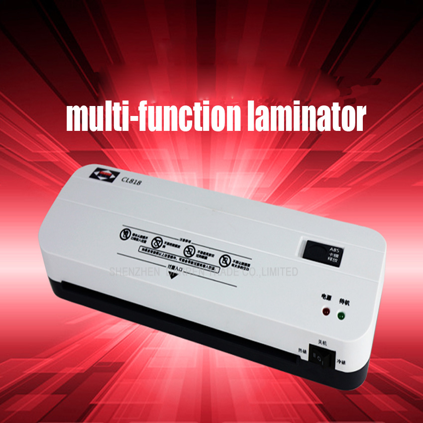 Free DHL 10PC Office Hot and Cold Laminator Machine for A4 Document Photo Blister Packaging Plastic Film Roll Laminator(China (Mainland))